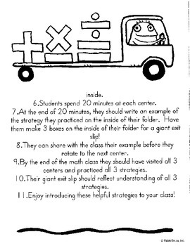 Introduction to Multiplication Strategies Centers-with teacher directions!