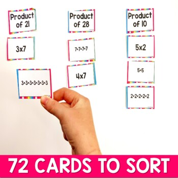 Introduction to Multiplication Strategies Sorting Game