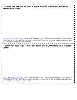 Introduction to Multiplication Task Cards B&W - Problem Solving
