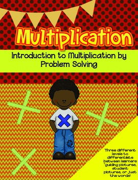 Introduction to Multiplication Task Cards Color- Problem Solving