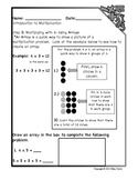 Introduction to Multiplication Workbook Part 3: Multiplying with 4 & 5
