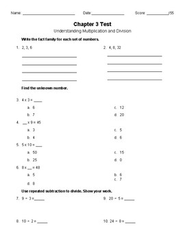 Multiplication Test 4th Grade Worksheets & Teaching Resources | TpT
