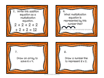 Introduction to Multiplication and Division TASK CARDS
