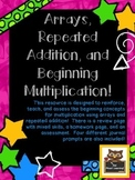 Introduction to Multiplication using Arrays and Repeated Addition!