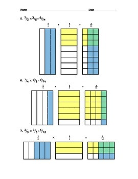Introduction to Multiplying Fractions with Visual Aids