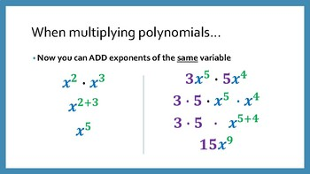 Introduction to Multiplying Polynomials
