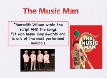 """Introduction to Musicals: """"The Music Man"""""""