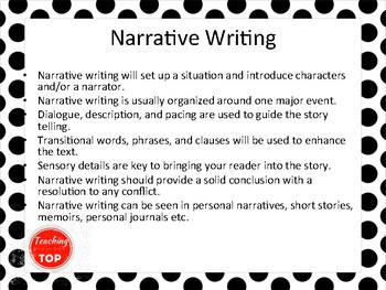 Introduction to Narrative Writing