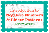 Negative Numbers & Linear Patterns (Review & Test)
