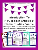 Introduction to Newspaper Articles and Media Studies Bundle