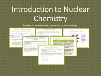 Introduction to Nuclear Chemistry