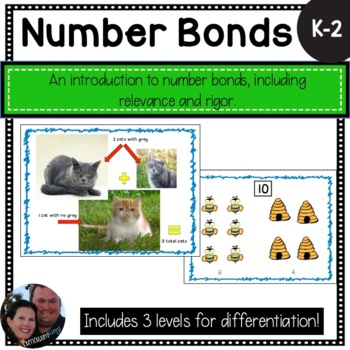 Introduction to Number Bonds - Differentiated