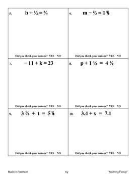 Introduction to One-Step Algebraic Equations