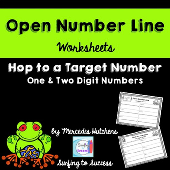 Introduction to Open Number Line: Hop to a Target Number W