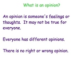 Introduction to Opinion Writing