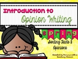 Opinion Writing W.1.1 W.2.1 Fact vs Opinion Spring Topics
