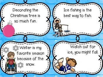 Introduction to Opinion Writing W.1.1 W.2.1 Fact vs Opinion Winter Topics