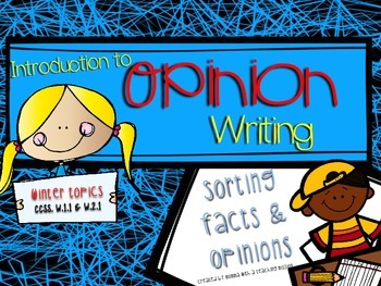Introduction to Opinion Writing W.1.1 W.2.1 Fact vs Opinio