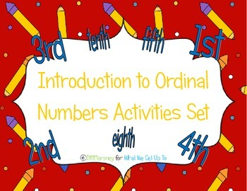 Introduction to Ordinal Number Activity Set