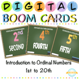 Introduction to Ordinal Numbers 1 to 20 - Boom Cards™ with Sound