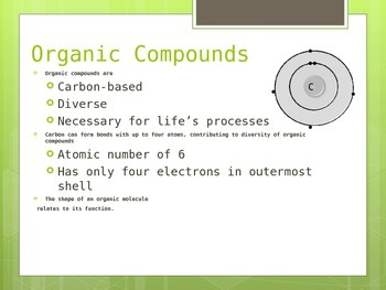 Introduction to Organic Compounds (Molecules of Life)
