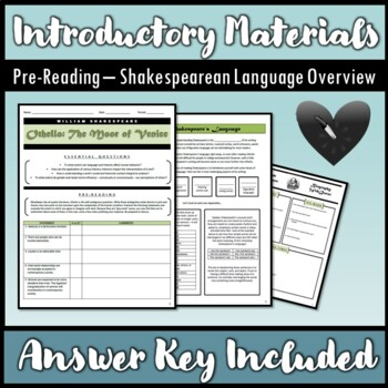 Introduction to Othello 13-Page Packet PLUS PowerPoint