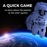 Solar System Game - Learning about Planets, The Sun, and Outer Space