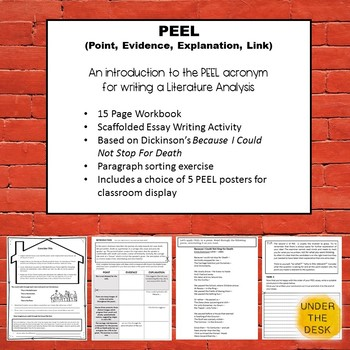 """Introduction to """"PEEL"""" acronym for great Literature Essays"""