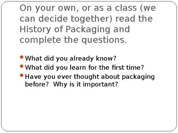 Introduction to Packaging/Logos/Candy Bar Project Powerpoint