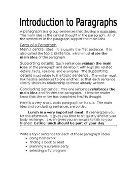 Introduction to Paragraphs-Hamburger Model