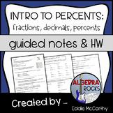 Introduction to Percents - Fractions, Decimals, Percents G