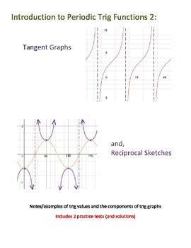 Introduction to Periodic Trig Functions 2: Tangent & the Reciprocals