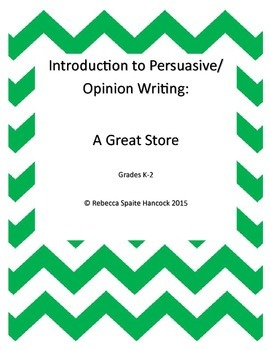Introduction to Persuasive/Opinion Writing:  A Great Restaurant