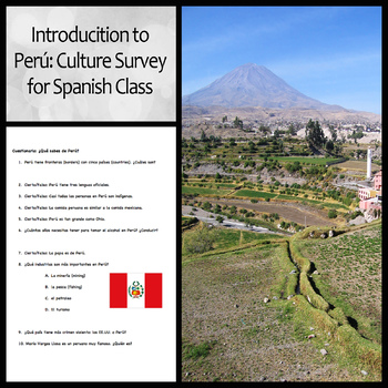 Introduction to Peru: Culture Survey for Spanish Class