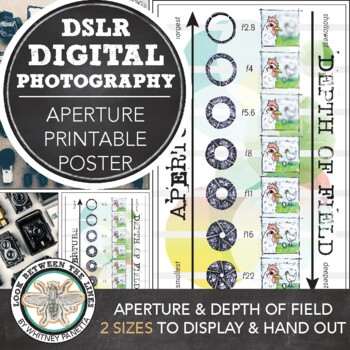 Introduction to Photography: Printable Poster, Aperture and Depth of Field