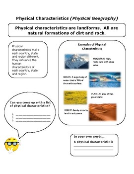 Introduction to Physical Characteristics/Geography