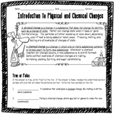 Introduction to Physical and Chemical Changes Worksheet