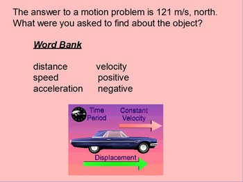 "Introduction to Physics ActivInspire Unit II Review ""Motion"""