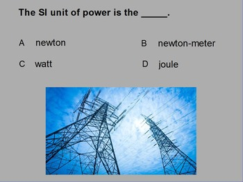 """Introduction to Physics ActivInspire Unit IV Review """"Forces in Fluids"""""""