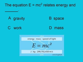 """Introduction to Physics ActivInspire Unit V Review """"Energy & Heat"""""""