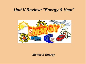 "Introduction to Physics ActivInspire Unit V Review ""Energy & Heat"""