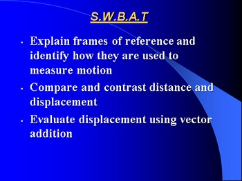 "Introduction to Physics Lesson I PowerPoint ""Distance and Displacement"""