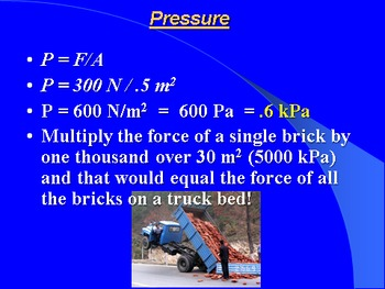 "Introduction to Physics Lesson I PowerPoint ""Fluid Pressure"""