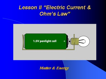"Introduction to Physics Lesson II PowerPoint ""Electric Current & Ohm's Law"""