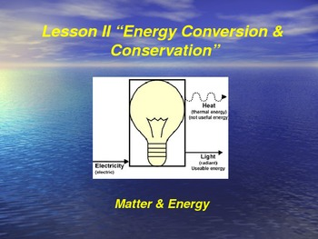 "Introduction to Physics Lesson II PowerPoint ""Energy Conve"