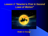 "Introduction to Physics Lesson II PowerPoint ""Newton's 1st and 2nd Laws"""