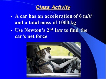 """Introduction to Physics Lesson II PowerPoint """"Newton's 1st and 2nd Laws"""""""