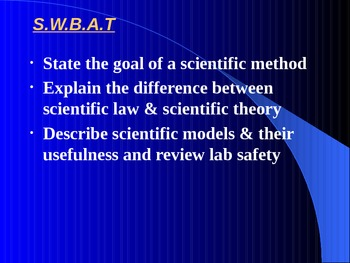 """Introduction to Physics Lesson II PowerPoint """"Using a Scientific Approach"""""""
