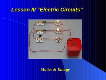 """Introduction to Physics Lesson III PowerPoint """"Electric Circuits"""""""