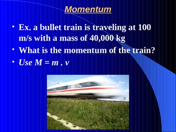 """Introduction to Physics Lesson III PowerPoint """"Newton's Third Law & Momentum"""""""
